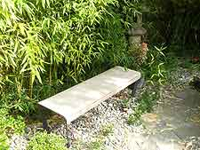 Modern bench, simple and Japanese in style