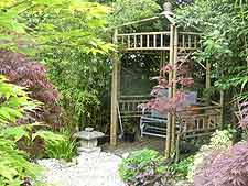 Picture of bamboo gazebo