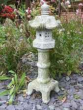 Small granite pillar Japanese lantern