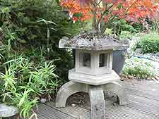 Japanese snow lantern, made from reconstituted stone