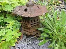 Weathered iron lantern