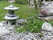 Granite Japanese snow lantern