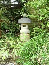 Stone-cast Japanese lantern