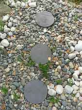 Slate circular stepping stones