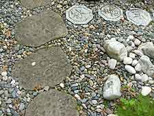 Close-up of stepping stones